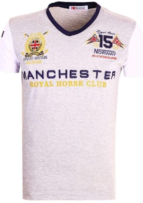 Geographical Norway Shirts t-shirt Grijs Jingston Manchester Buckingham Great Britain (2)