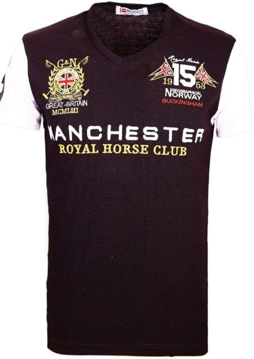 Geographical Norway Shirts t-shirt Zwart Jingston Manchester Buckingham Great Britain (2)