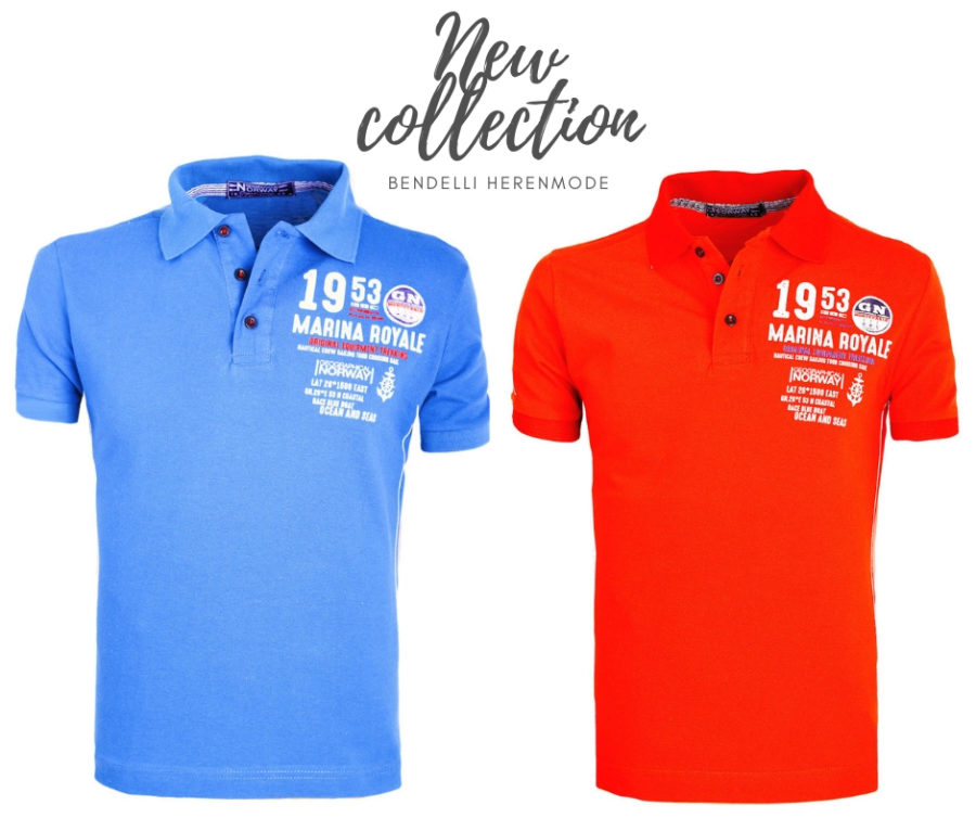 Geographical Norway polo shirts Monte carlo blauw en rood