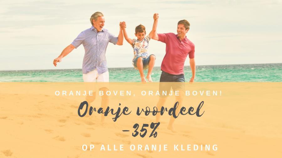 Oranje voordeel op alle oranje kleding