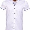 Wam denim overhemd korte mouw wit cut away boord Taranto 75575 voorkant