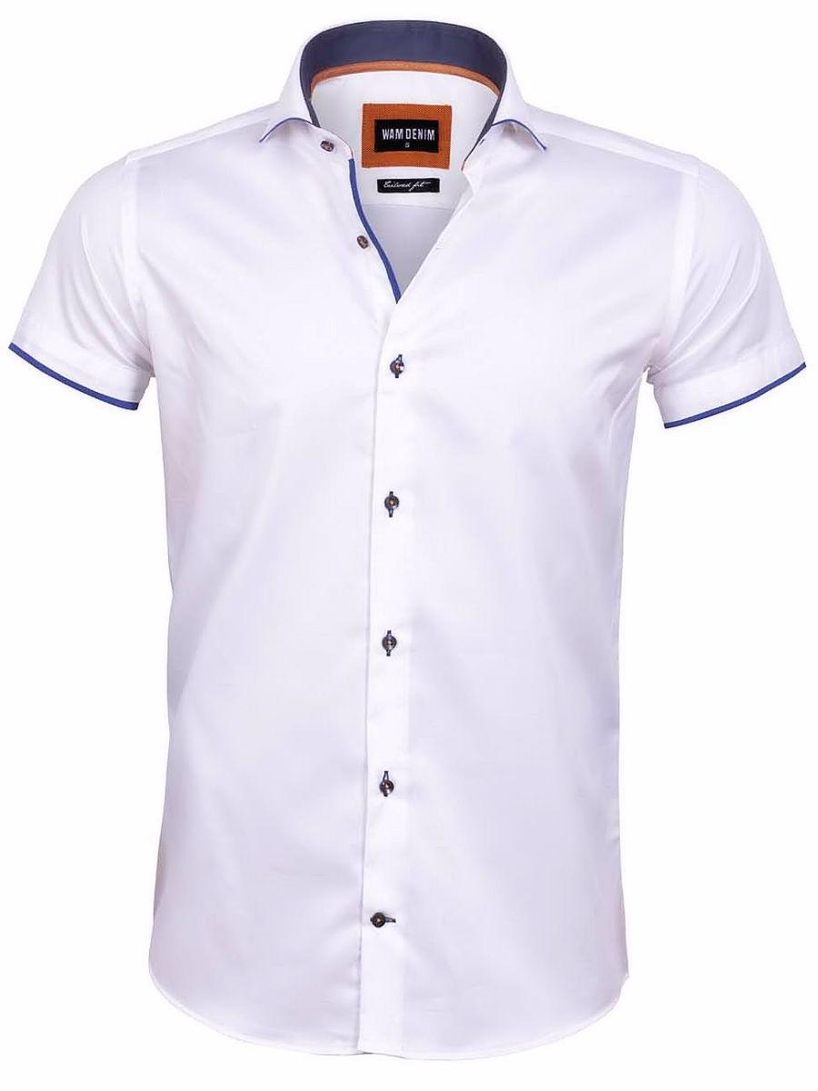 Overhemd Wit Korte Mouw.Wam Denim Overhemd Korte Mouw Wit Taranto 75575 Bendelli