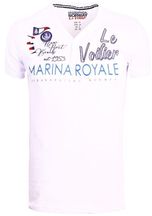 Geographical Norway t shirt heren marina royale wit joiles bendelli()
