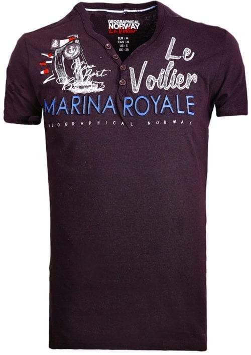 Geographical Norway t shirt heren marina royale zwart joiles bendelli()