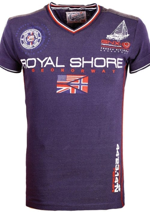 Geographical Norway t shirt heren royal shore blauw jamacho bendelli()