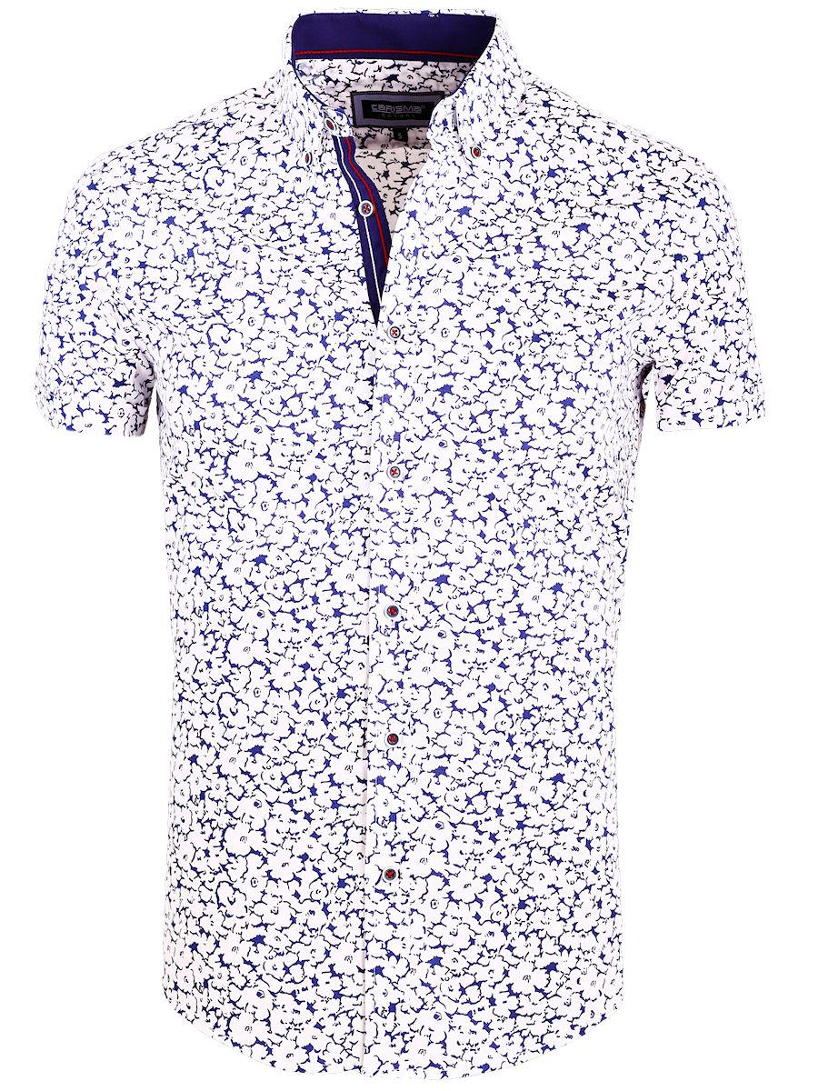 Bloemen Overhemd.Carisma Overhemd Bloemen Print Korte Mouw Wit 9108 Bendelli