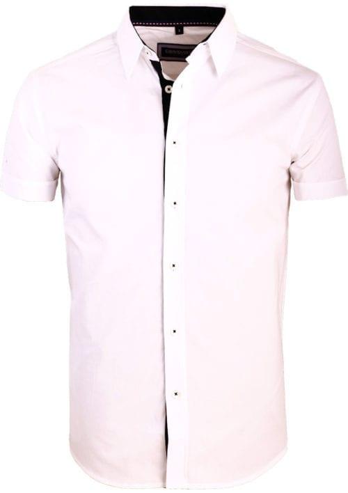 Korte mouw overhemd wit heren Carisma 9102 (2)