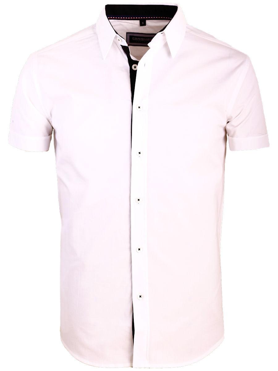 Overhemd Zwart Korte Mouw.Carisma Overhemd Korte Mouw Effen Wit 9102 Bendelli Herenmode