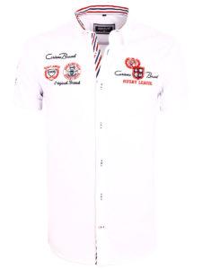 Korte mouw overhemd wit heren Carisma met print rugby league 9002 (2)