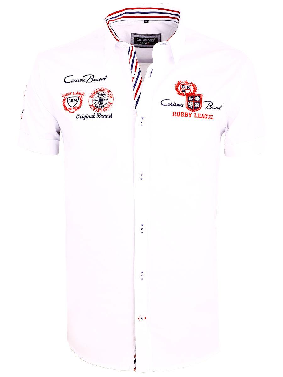 Overhemd Wit Korte Mouw.Carisma Overhemd Korte Mouw Wit Premium 9002 Bendelli