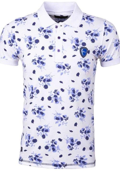 Wam Denim Polo Shirt Wit korte mouw Westminster 79443 Bendelli voorkant