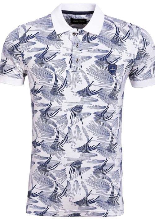 Wam Denim overhemd blauw lange mouw tailored fit durham 75593 achterkant