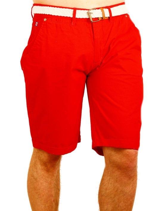 Canadian Peak Korte Broek rood met riem Pertinent Bendelli (2)