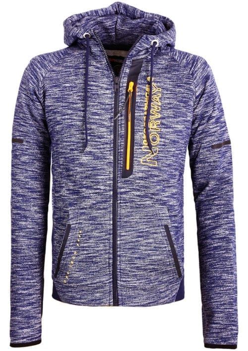 Geographical Norway sweater heren vest Blauw Glassboro (1)