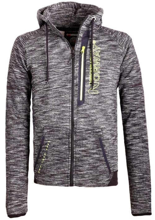 Geographical Norway sweater heren vest Zwart Glassboro (1)