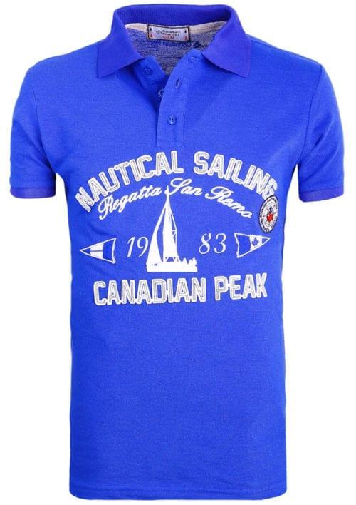 CanadianPeakPoloShirtKobaltKianniNauticalSailingRegattaBendelli()