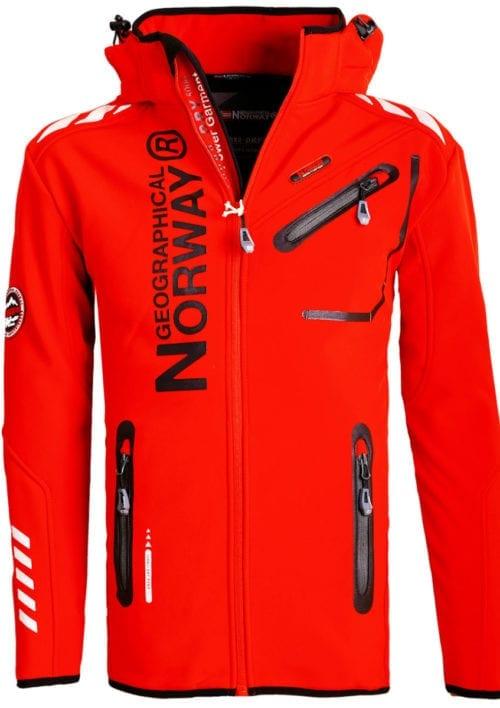 Geographical Norway Jas Softshell rood Royaute jacket Bendelli (2)
