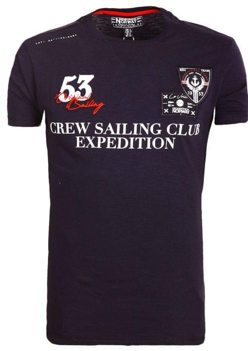 Geographical Norway Shirt Zwart Jebastien crew sailing Bendelli (2)