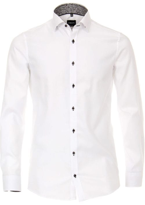 Venti Overhemd wit strijkvrij edition modern fit Bendelli 193279600-000 (1)