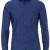 Venti overhemd blauw kent kraag gewerkt bodyfit fit stretch Bendelli 193279900-100 (2)