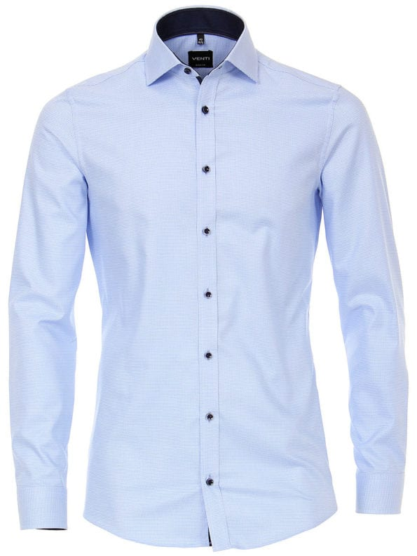 Venti overhemd body fit blauw 193278200-100 bendelli