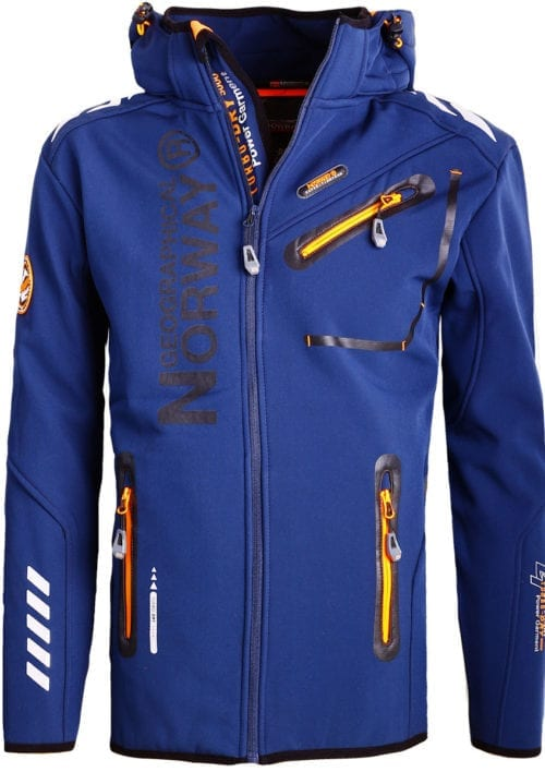 Geographical Norway Jas Softshell blauw Royaute jacket Bendelli (1)