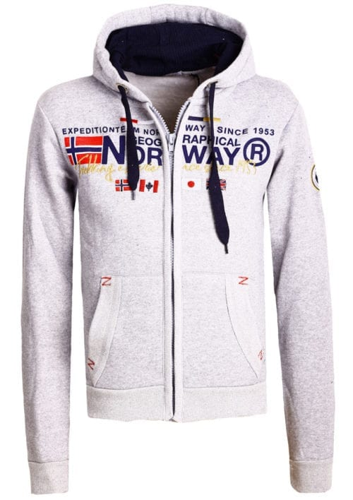 Geographical Norway vest heren sweater grijs Galliator bij Bendelli (2)